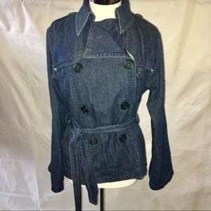 MARC JACOBS Belted double breasted jean jacket S